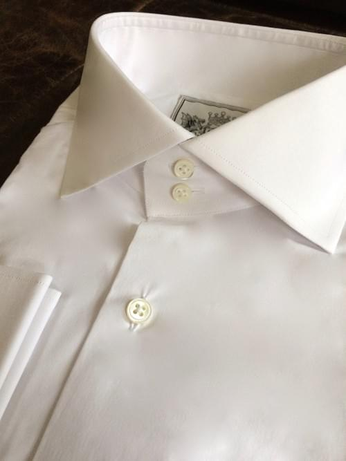 Solid White Tailored Executive Shirt