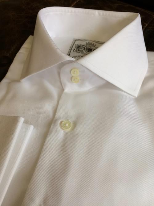 White Wrinkle Free Twill Tailored Executive Shirt