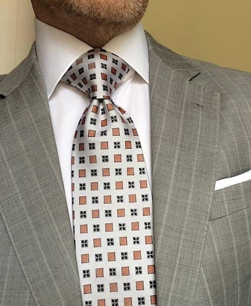 CLEARANCE: Sienna Silver Geometric Tie