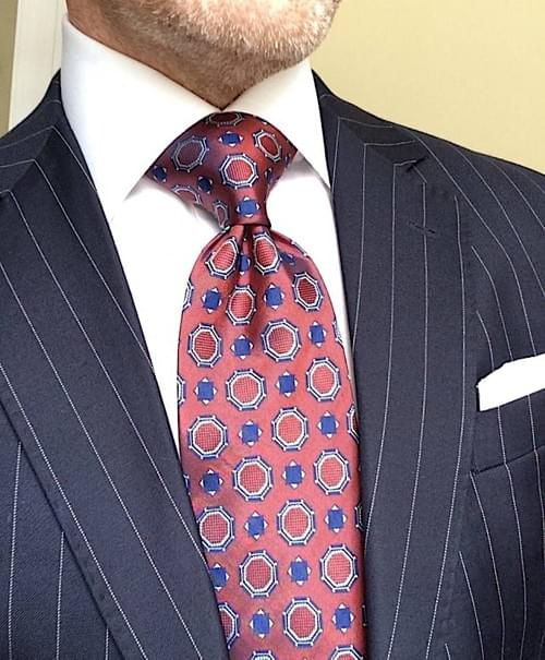 CLEARANCE: Burgundy Medallion Tie
