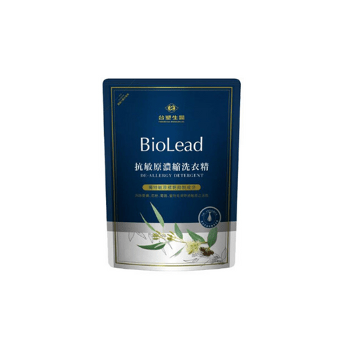 Biolead 抗敏洗衣精組 (1.8kg補充包*5 + 2kg罐裝*1)
