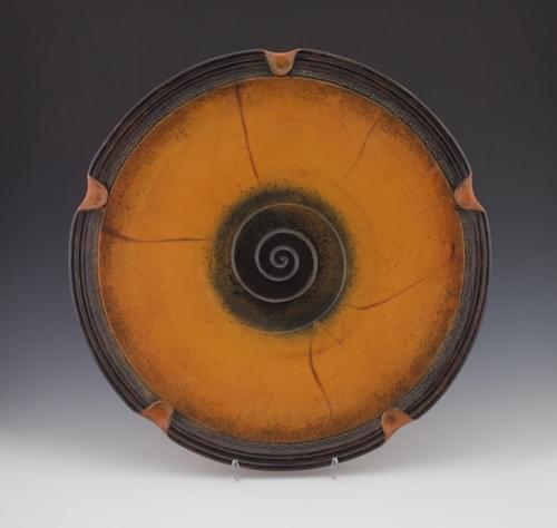 Large Red Earthenware Platter
