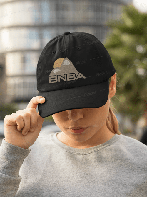 Beige Logo on Black Hat