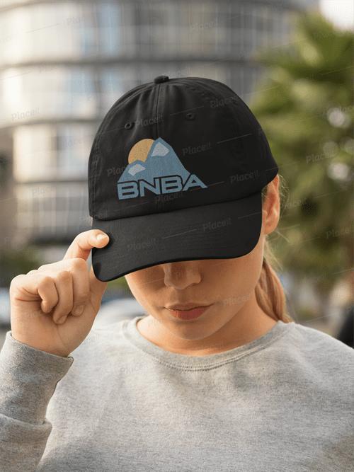 Blue Logo on Black Hat