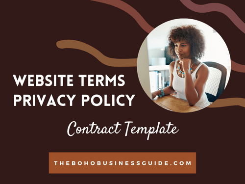 Website Contract Bundle | Terms + Privacy Policy Template
