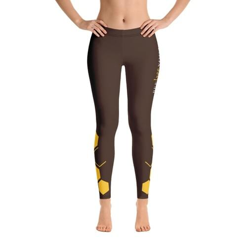 Brown Bee Free Yoga Leggings - FREE SHIPPING
