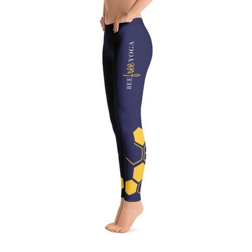 Navy Bee Free Yoga Leggings - FREE SHIPPING