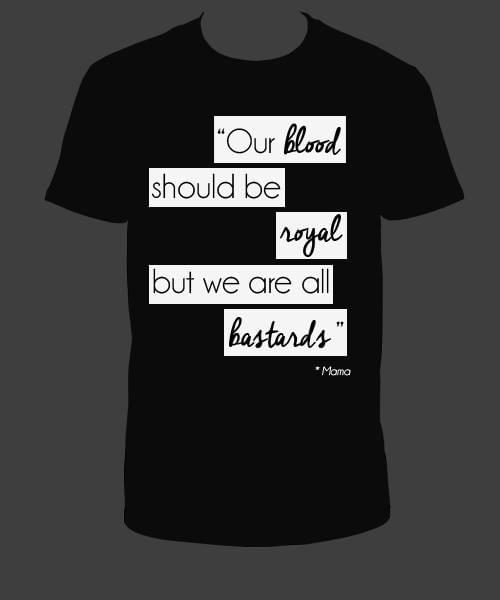 "Tee Shirt Noir ""We are all bastards"""