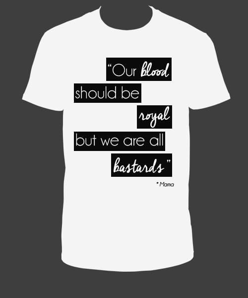 "Tee Shirt Blanc ""We are all bastards"""