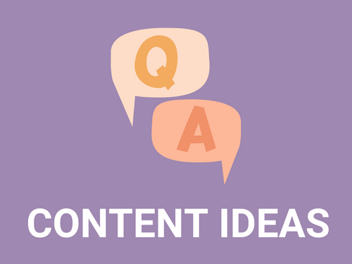 Answer these simple questions and you will have content for your business all year