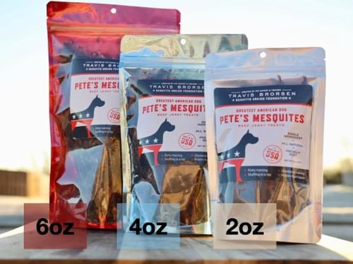 6oz Pete's Mesquites All Natural, Premium Beef Jerky Treats - SINGLE BAG/ONE TIME PURCHASE