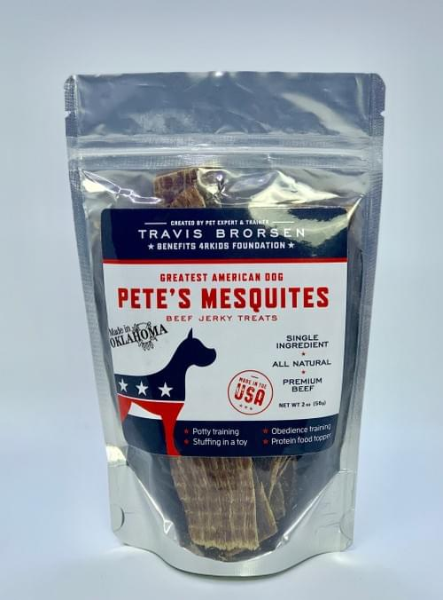 Pete's Mesquites All Natural, Premium Beef Jerky Treats - SINGLE BAG/ONE TIME PURCHASE