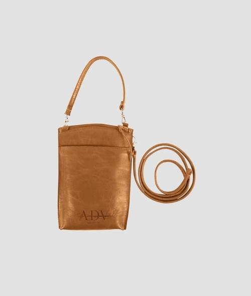 Mini bag crossbody with leather strap