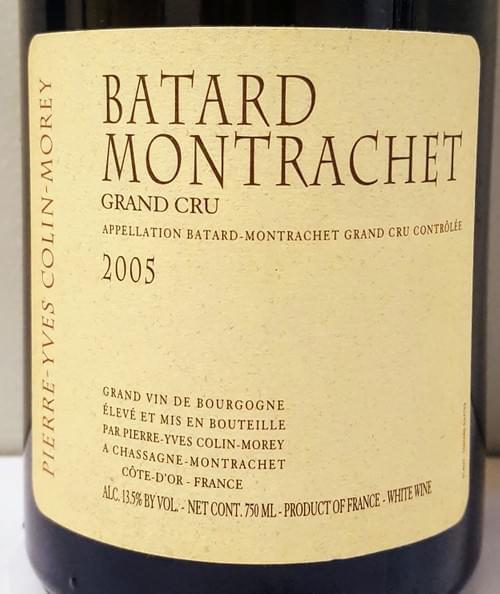 Domaine Pierre-Yves Colin Morey Batard Montrachet 2005