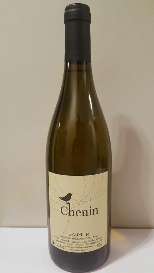 6 bouteilles de Chenin AOC Saumur blanc Domaine des Ruaults 2017 à 7 euros la bouteille