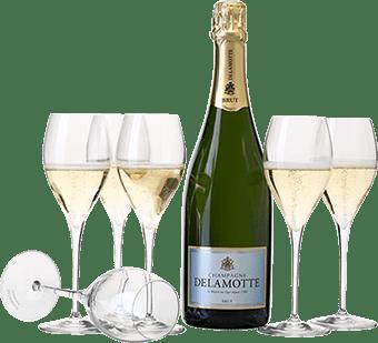 12 bouteilles de Champagne Delamotte Brut à 24€ au lieu de 28€