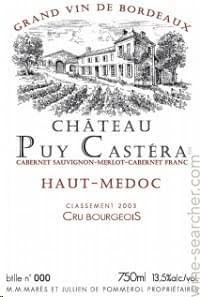 24 bouteilles de Château Puy Castéra 2012 à 10,90€ par bouteille