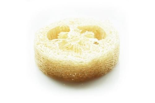 "Luffa Sponge Slice Soap Tool 0.78"" Thick 1.96"" Diam. (2 cm x 5 cm) 100 pcs/lot"