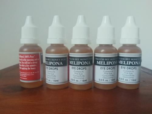 Melipona Raw Stingless Bee Honey Not Diluted 0.5 fl.oz 5 BPA free from $4.99 USD / 15 ml each