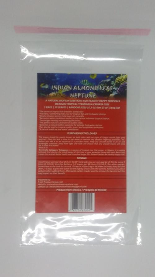 "Indian Almond Leaves  Sizes 4""-10"" Grade A Flat Pressed - 100 Leaves Random Sizes Case"