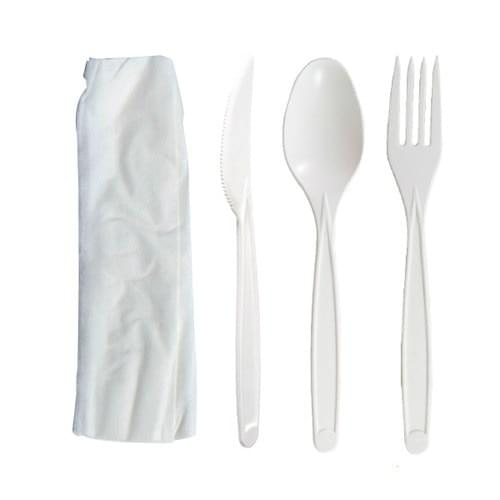 Individually Wrapped-Fork, Knife, Spoon, and Napkin
