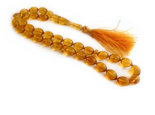 Simojovel Amber Rosary Lemon Transparent Color 33
