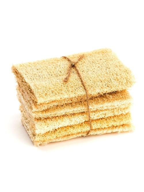 Luffa Sponge 100% Natural Eco-friendly and Biodegradable Pack of 5 Case 100 pieces
