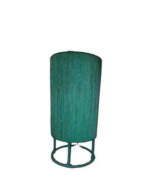 "Sisal Lamp Shade Handmade Cubic Model 17"" / 22"""