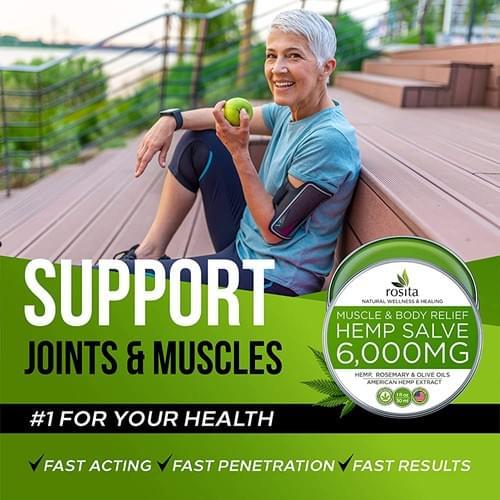 Bálsamo de Aceite de Cáñamo Para Artritis Reumatoide, Dolores Musculares, Extra Fuerte 6000mg MN