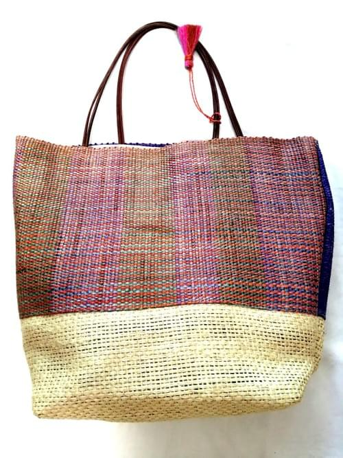 Sisal Bag Natural 12 inch Handmade