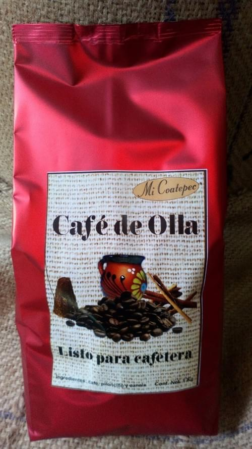 Piloncillo Cafe de Olla Ready to Use and Serve. 100% Organic 2 lbs Bag sold by case 12 bags