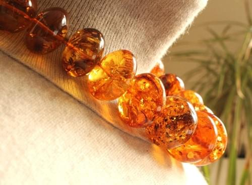 Simojovel Amber Necklace Honey Yellow Graduated Beads