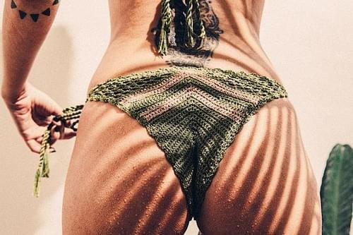 Crochet Chevron Bikini Bottom Organic Cotton Yard