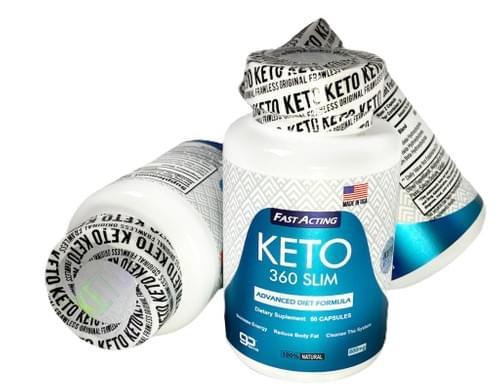 Promo Paquete de 2 Frascos Keto 360 Slim 60 Capsulas 800 BHB/mg, Pérdida de Grasa