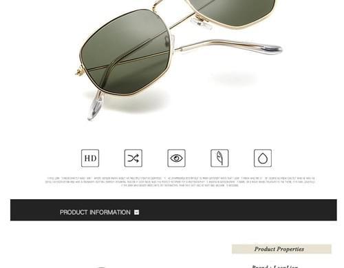 LeonLion 2019 Polygonal Sunglasses Women Glasses Lady Luxury Retro Metal