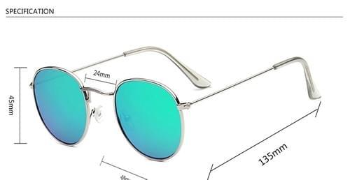 Luxury Mirror Lady Round Sun Glasses Street Beat