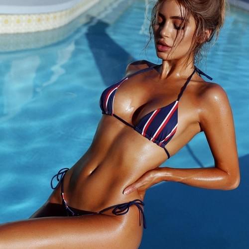 Brazilian 2019 Sexy Micro Bikini Beach Girl Set