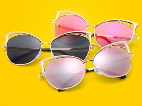 Cat Eye Luxury 2018 Sunglasses Twin-Beam Mirror