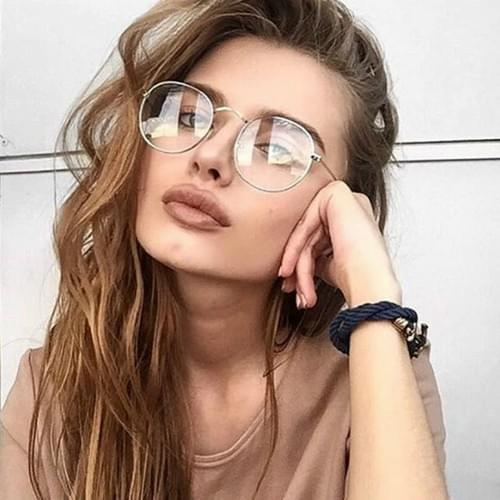 Glasses Optical Frames Metal Round Clear Lens 2019