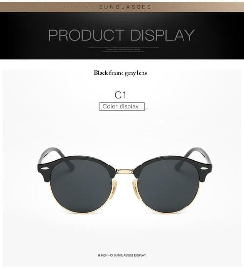 Hot Rays Sunglasses Brand Designer Retro Style Rivet Frame