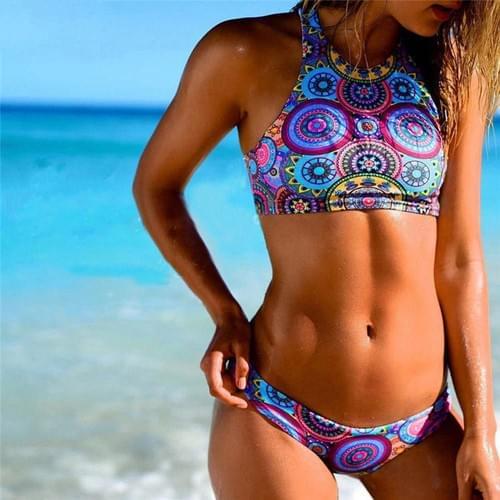 Brazilian Bikini Two Pieces Bandage Push-Up Beach Set