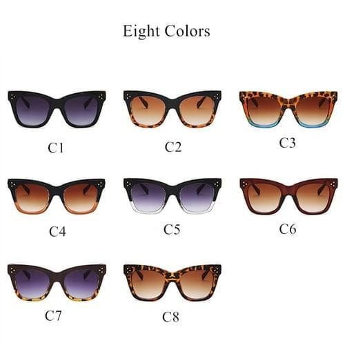 Oulylan Classic Cat Eye Sunglasses Women Vintage