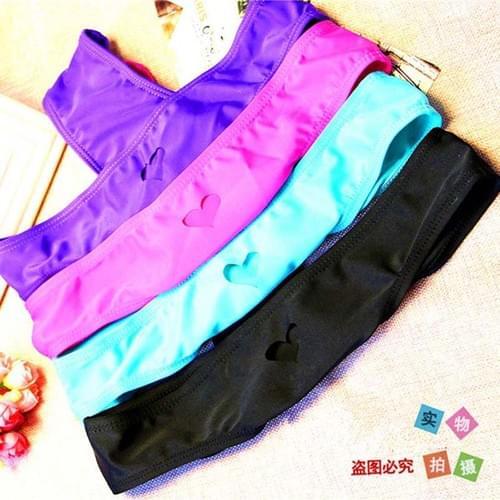 New 2019 Heart T-Back Bikini Bottom Swimwear Thong Sexy