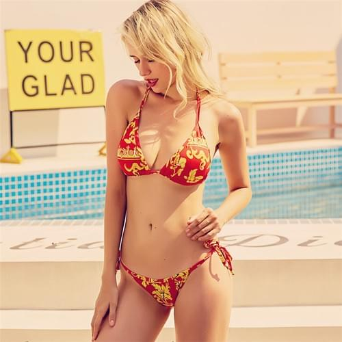 Sexy Brazilian Bandage Bikini 2020 Floral Beach Set
