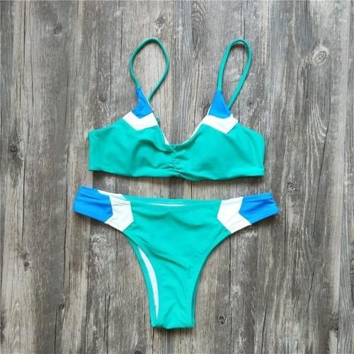 Brazilian Sexy Bikini Patchwork Swimsuit Set