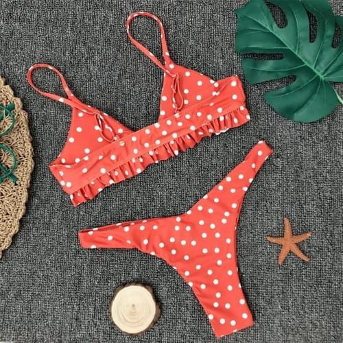 Brazilian Bikini Women Dot Bathing Set