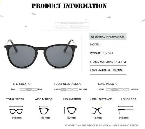 Classic Cat Eye Sunglass Star Style Rays Protection  UV400,