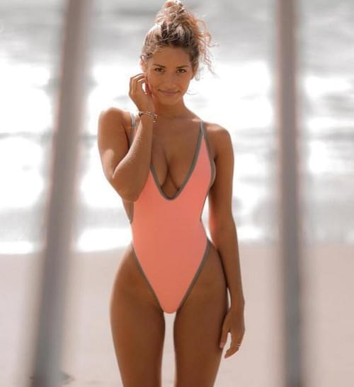 Brazilian Solid One Piece Swimsuit 2019 Sexy