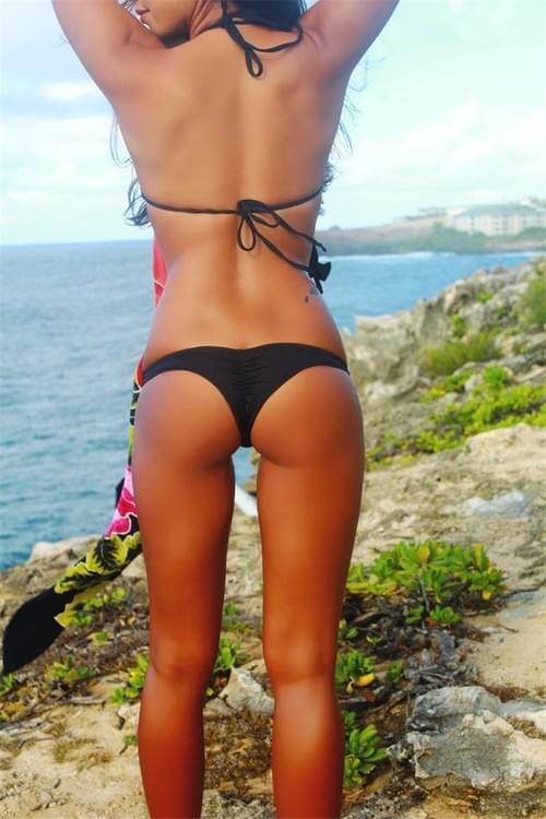 Cheeky Bottom Sexy Brazilian Mini Thong V Shape G-String Bikini Beach Underwear