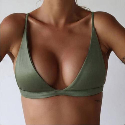 Brazilian Bikini Single Top Sexy Beach Girl 2019